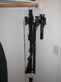 home self defense shotgun rack on pinterest gun racks gun safes an. Black Bedroom Furniture Sets. Home Design Ideas