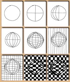 Op Art Step by Step | wonderful op art lessons with step by step ... | Art Room Elements ...