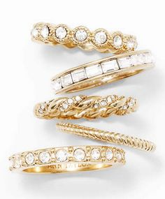 Gorgeous stacking rings http://rstyle.me/~25dGL