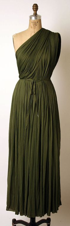 Madame Grès green evening dress, ca.1953
