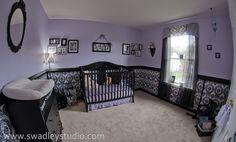 girl purple nursery