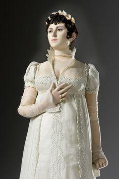 Portrait length color image of Josephine Bonaparte aka. Joséphine de Beauharnais, by George Stuart.