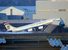 Bad engine test... Forgot the e-brake! etihad airway, airbus a340600, airbus aircraft, aviat, aircraft mishap, aircraft crash, airbus a340642, airway airbus, a340642 fwwcj