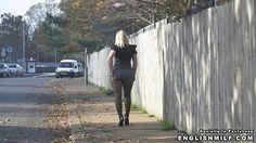 Big ass English milf in pantyhose, arse revealing mini skirt and heels sexy big booty walk in public street flashing her nylon butt. Publix upskirt outdoor flash sexy exhibitionist Daniella English.
