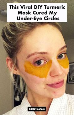 This Viral DIY Turmeric Mask Cured My Dark Under-Eye Circles for Real