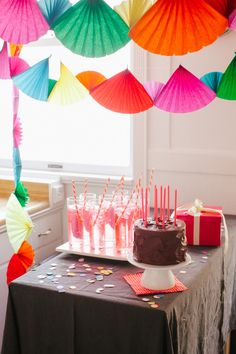 This party can be thrown together in an hour | Rainbow Streamer Party | Oh Happy Day!
