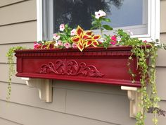 Decorative Window Box 36 wide burgandy in by SunsetLeisureDesigns, $165.00