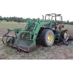 John Deere 7800 tractor salvaged for used parts. Call 877-530-4430. We buy salvage farm equipment. 7 salvage yards in the Midwest. http://www.TractorPartsASAP.com