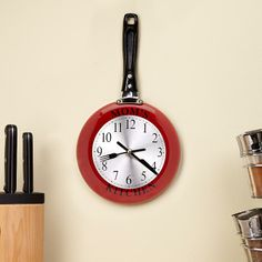 Personal Creations #Gifts  #Personalizedgifts Retro Kitchen Pan Clock and other at PersonalCreations.com - Great Personalized Gifts via- http://www.AmericasMall.com/personalcreations-gifts