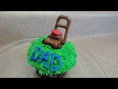 Decorating Cupcakes #45 Fathers Day - The Lawnmower