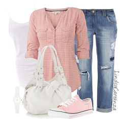 """""""Casual Plaid"""" by lindsycarranza ❤ liked on Polyvore"""