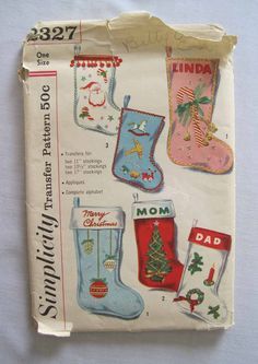 Vintage Simplicity Christmas Stocking by LingonberriesAndMoss
