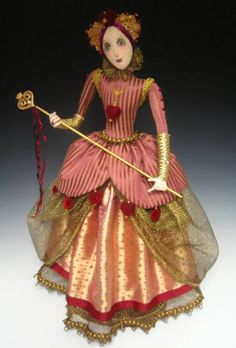 Queen of Hearts Art Doll by Cindee Moyer