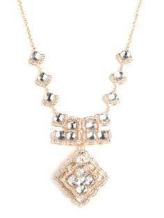 Gold Rose Bib - Necklaces - Categories - Shop Jewelry   BaubleBar