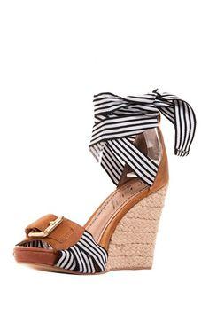 Nautical Wedge Sandals / go max. OMG