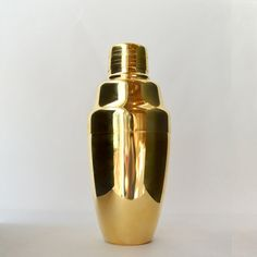 A gold-plated cobbler shaker, $75, from Umami Mart.