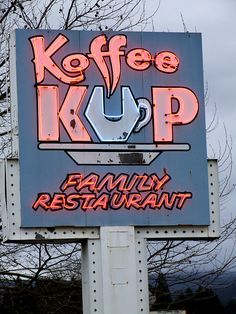 Coffee with a K neon