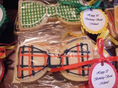 bow tie cookies for boy baby shower
