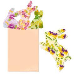 Floral Design Rabbit Greeting Card Set >> Canon http://cp.c-ij.com/en/contents/3205/c-rabbit-b/index.html