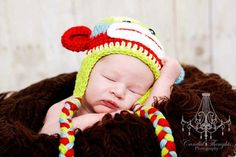 Cute sock monkey hat.