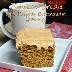 Gluten-Free Pumpkin Bread with Pumpkin Buttercream