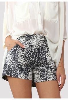 leopard print high waist shorts http://rstyle.me/n/jpterr9te