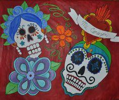 Photo booth backdrop  Dia de Los Muertos party