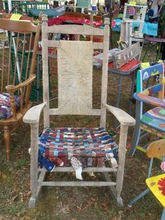 Tie Bottom Rocking Chair by GodOdditiesDecor on Etsy, $175.00