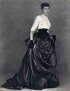 christians, crazy hats, 1952victoria secret, model fashion, christian dior, 50s fashion, 1950, black, fashion model