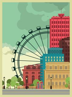 City background on Behance
