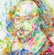 Shakespeare Paintings - William Shakespeare Portrait by Fabrizio Cassetta