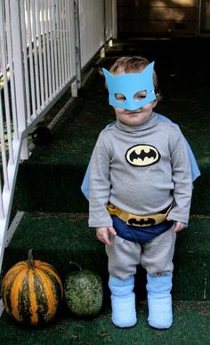 60's style Batman costume! Could easily make this more detailed. Perfect for my little guy.