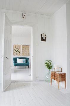 white wood plank walls
