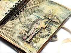 great travel journal pg idea - Tworzysko Finnabair, artist    - via tworzysko.blogspot.com