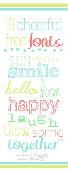 10 Cheerful & Free Spring Fonts!