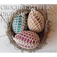 Crochet+Easter+/+Christmas+Egg+Cover+Pineapple+Lace+by+Maralihan