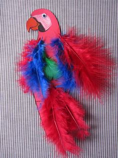 A parrot fit for a pirate! Easy parrot craft for Talk Like a Pirate Day!