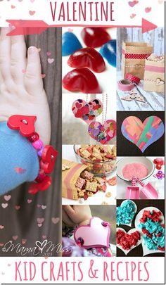 Valentine Roundup Kids Crafts & Recipes http://www.mamamiss.com ©2013