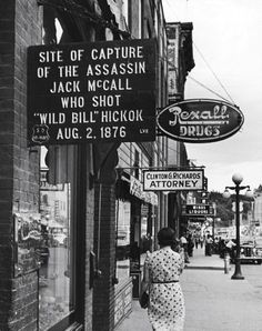 Who shot Wild Bill?  legrandcirque:        Alfred Eisenstaedt, Deadwood, South Dakota, USA, 1940.    (via rod42)