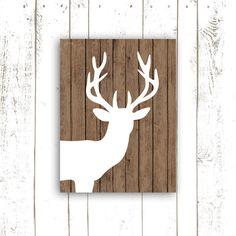 Deer+Art+Print++Deer+Art+Print+Modern+by+MooseberryPrintShop,+$18.00