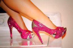 hot pink crystals