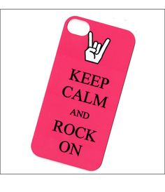 keep calm and rock on iphone 4 case iphone 4 cover by icasecouture, $15.00