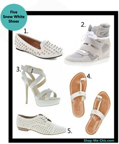 Shoe trend: white shoes. Do you dare to wear white?