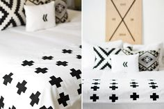 DIY This Chic Plus Sign Throw Blanket for Just $20 via Brit + Co.