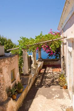 Old House in the village of Ginostra, on Stromboli , Italy