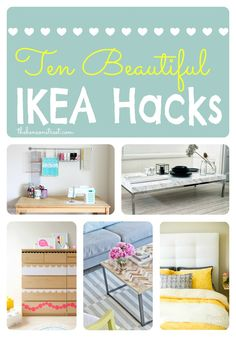 10 Beautiful Ikea Hacks at thebensonstreet.com #ikea #homedecor