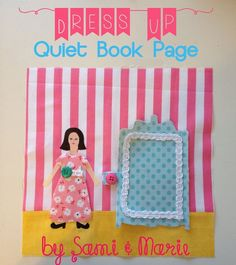 Dress Up Quiet Book Page