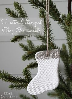 Dear Emmeline: December 3: Sweater Stamped Ornaments