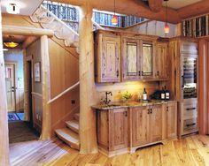 Stunning Camp Interior For Your Summer Holiday: Astonishing Classic Kitchen White Oak Flooring Adirondack Camp ~ wbtourism.com Home Interior...