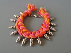 DIY Braided Spike Bracelet